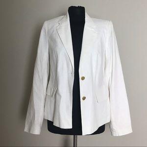Off-White Linen Blazer NWT